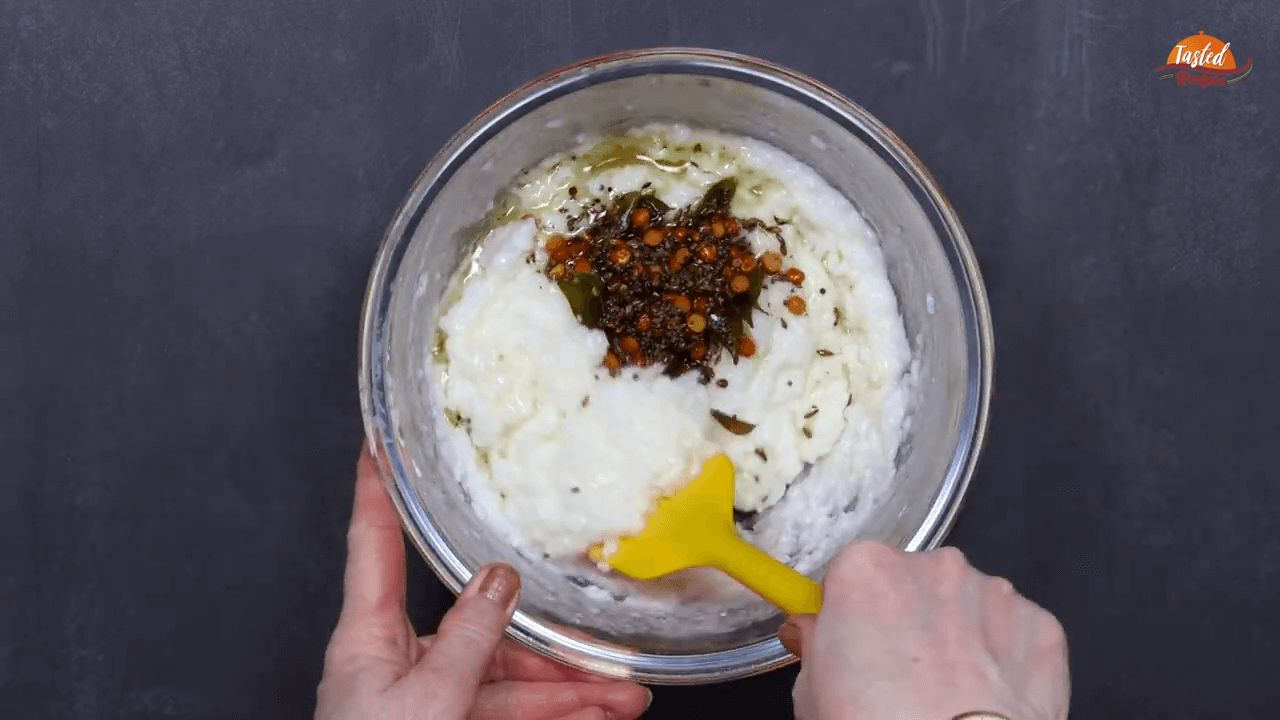 South Indian Style Curd Rice step-4