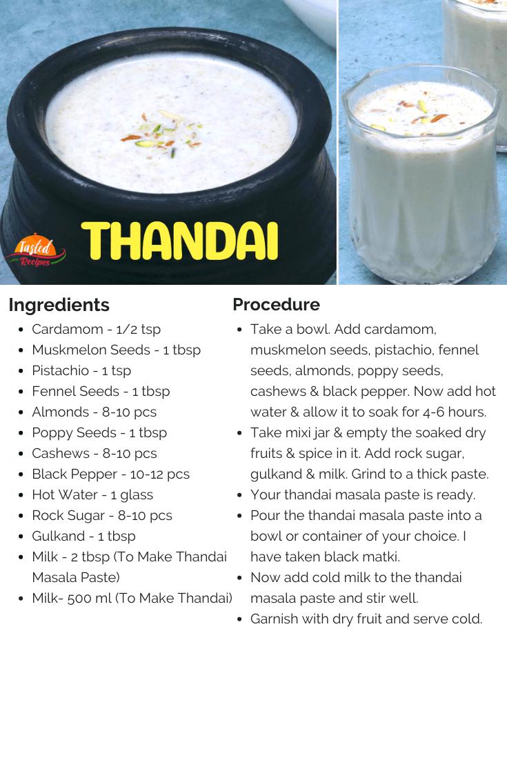 Thandai recipe-card