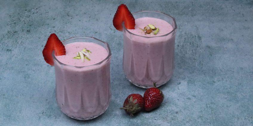 Gulkand Strawberry Milkshake