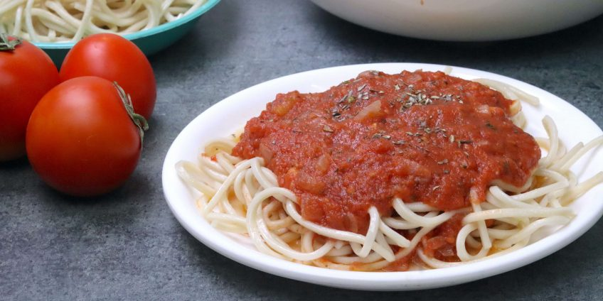Red Pasta Tomato Sauce From Fresh Tomatoes