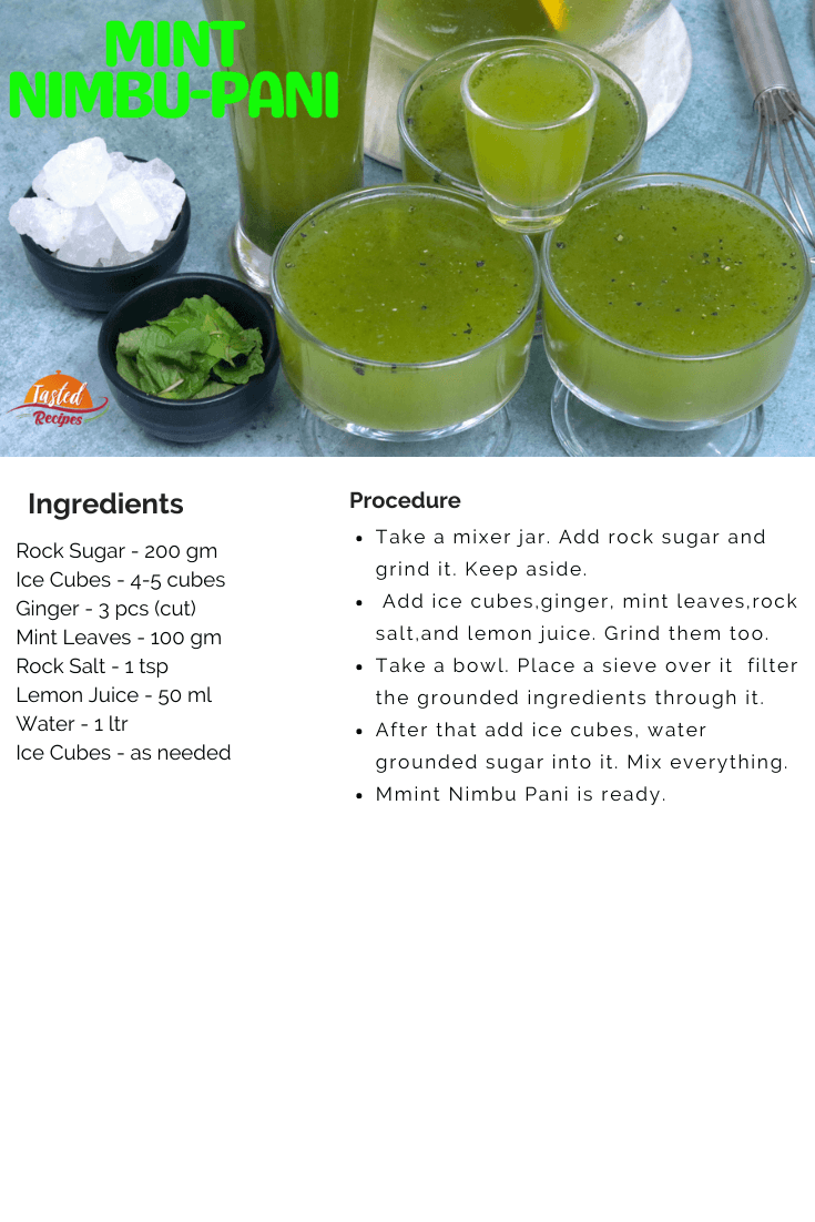 Mint Nimbu- Pani- recipe-card