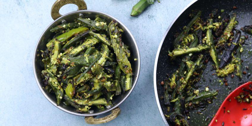 Green Garlic Bhindi