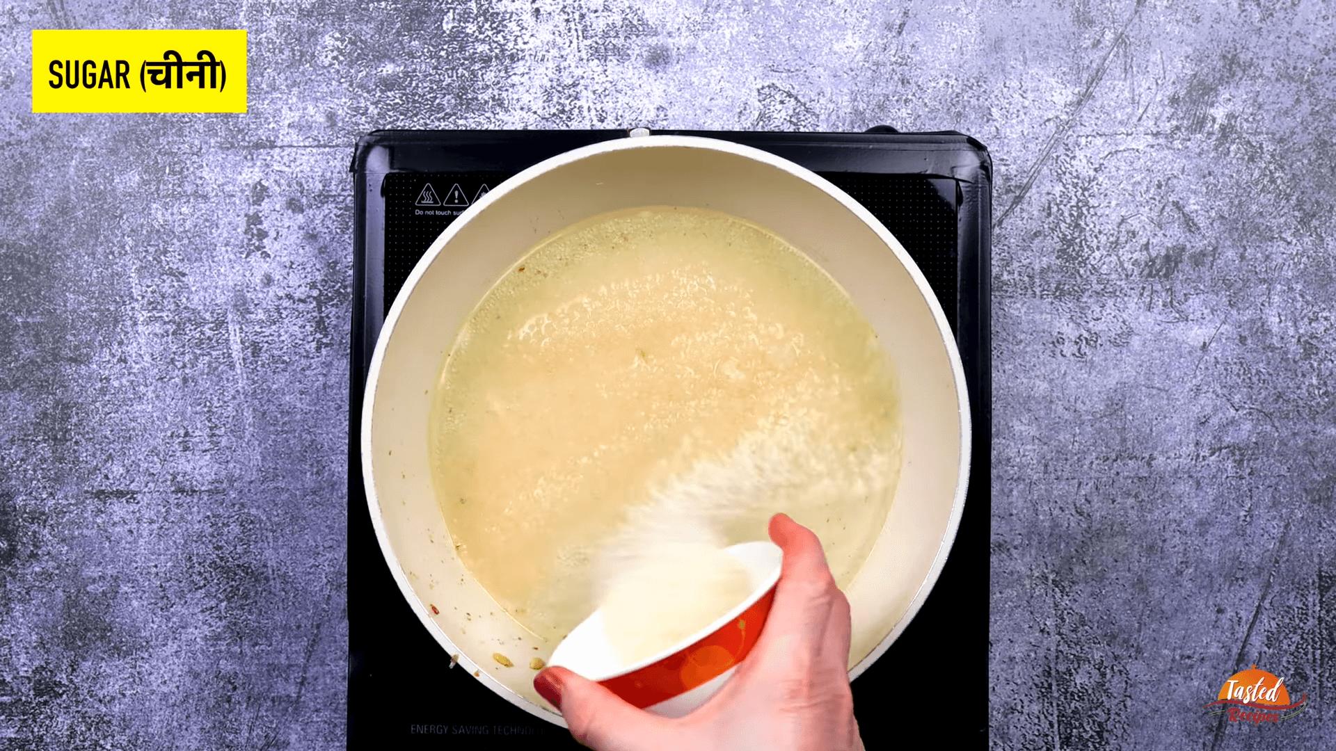 custard powder halwa step-3