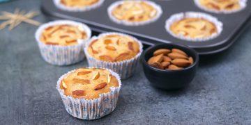 Almond Cupcakes Eggless