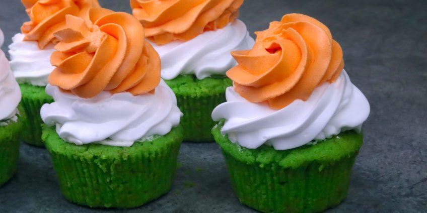 Tricolor Cupcake