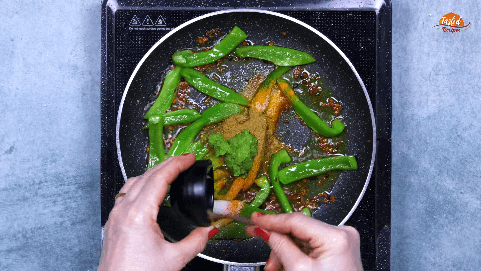 Green Garlic Bhindi step-4