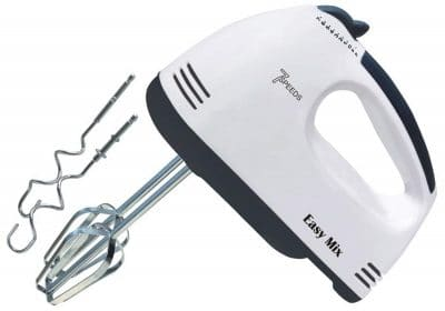 ADITYA fashion® Electric Hand Mixer and Blenders with Chrome Beater and Dough Hook Stainless Steel Attachments - for Cake Egg Bakery